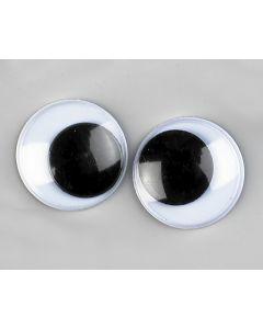 Wiebeloogjes 10 stuks 15 mm zwart-wit