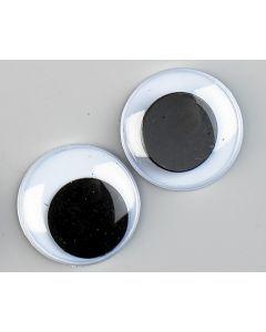 Wiebeloogjes 10 stuks 20 mm zwart-wit