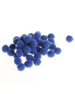 Pompon 7 mm 70 stuks blauw