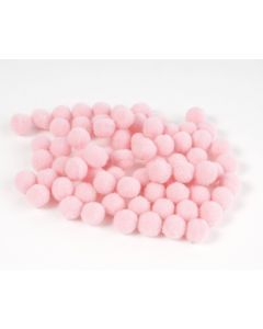 Pompon 7 mm 70 stuks roze