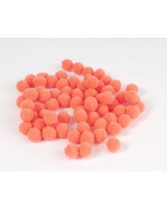 Pompon 7 mm 70 stuks oranje