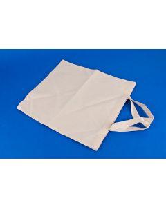 Katoenen zak 35 x 40 cm kort schouderlint