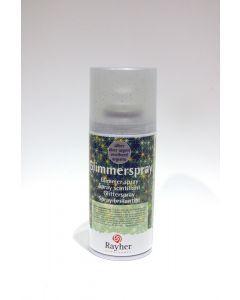 Glitterspray spuitbus 150 ml zilver