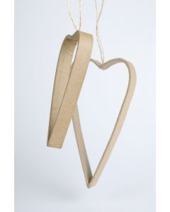Quilling hanger harten 12 x 1,5 cm & 16 x 2 cm 2 stuks
