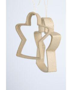Quilling hanger engelen 8 x 1,5 cm & 11 x 2 cm 2 stuks