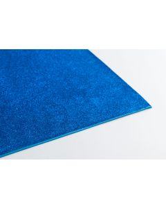 Crepla gummivel 30 x 45 cm 2 mm glitter blauw