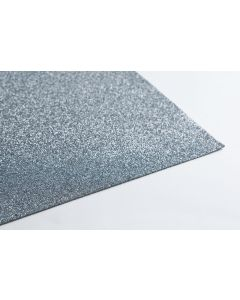 Crepla gummivel 30 x 45 cm 2 mm glitter zilver