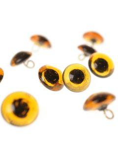 Dieren-naai-ogen glas bruin 6 mm 10 stuks