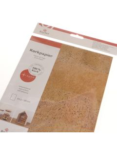Kurk papier zelfklevend 20,5 x 28 cm naturel