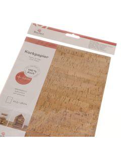 Kurk papier zelfklevend 20,5 x 28 cm strepen