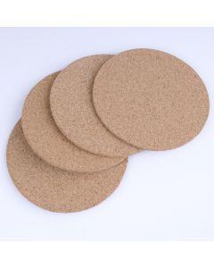 Onderzetters kurk rond 10 cm 4 stuks