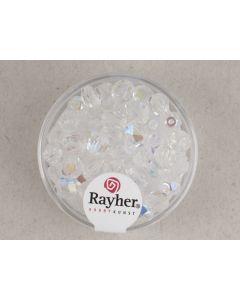Facetparel 6 mm 50 stuks kristal