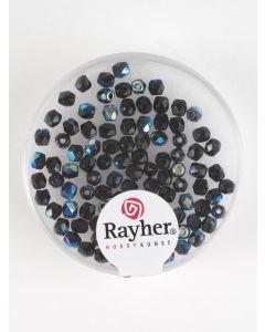 Facetparel 3 mm 100 stuks onyx