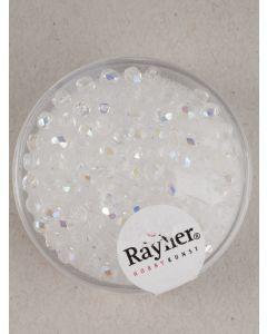 Facetparel 3 mm 100 stuks kristal