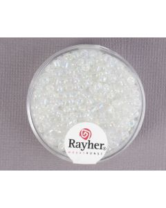Glasparel 2,6 mm 17 g zilver transparant lustré