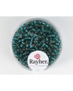 Glasparel 2,6 mm 17 g jadegroen met zilverkern