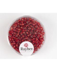 Glasparel 2,6 mm 17 g rood met zilverkern