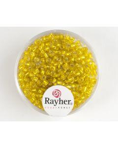 Glasparel 2,6 mm 17 g geel met zilverkern