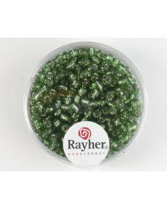 Glasparel 2,6 mm 17 g donkergroen met zilverkern