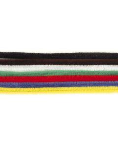 Chenille 6 mm/30 cm 25 stuks assortiment 8 kleuren