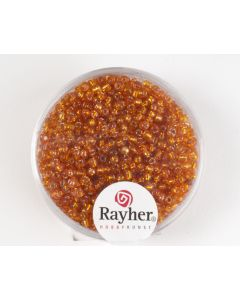 Glasparel 2 mm 17 g oranje met zilverkern