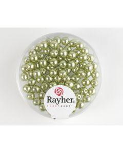 Renaissance parel 4 mm 85 stuks jadegroen