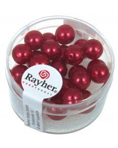 Renaissance parel 8 mm 25 stuks klassiek rood