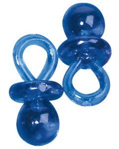 Miniatuur fopspeen 2 cm 10 stuks blauw
