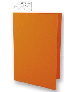 Kaart A6, 210 x 148 mm 220 g 5 stuks oranje