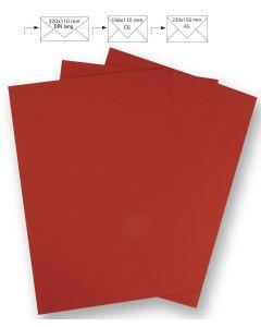 Papier A4 220 g 5 stuks kardinaalrood