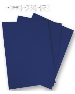 Papier A4 220 g 5 stuks nachtblauw
