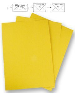 Papier A4 220 g 5 stuks zonnegeel