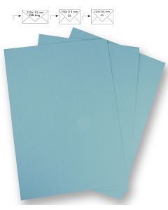 Papier A4 220 g 5 stuks babyblauw