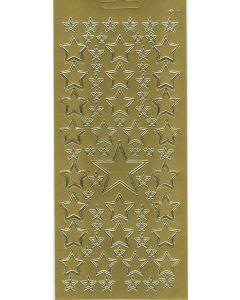 Sticker goud eenvoudige sterren