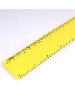Flexibele lat van gerecycled polypropyleen 30 cm - geel