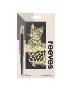 Krasfolie set 18 x 11 cm goud Kitten