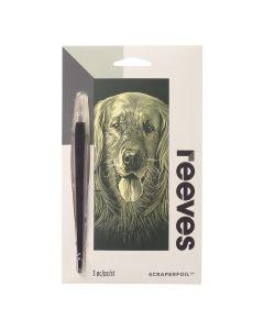 Krasfolie set 18 x 11 cm goud Hond