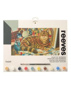 Schilderen op nummer 30 x 40 cm Rustende kat