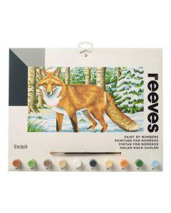 Schilderen op nummer 30 x 40 cm Europese vos