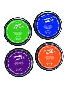 Stampo Colors inkt 4 stuks groen-blauw-paars-oranje