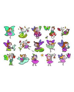 Stampo Kids stempels 15 stuks + inkt elfjes