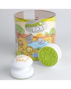 Stampo Baby stempels 4 stuks + inkt wilde dieren