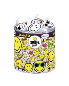 Stampo Smiley 38 stuks + stempelkussen