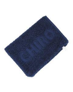 Washandje Chiro 15 x 21 cm blauw C2C bio en Fairtrade