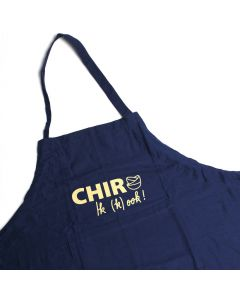 Keukenschort Chiro Ik (k)ook! Fairtrade blauw
