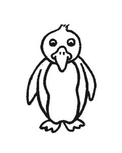 Stempel 4 x 4 cm pinguin