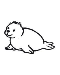 Stempel 4 x 4 cm zeehond