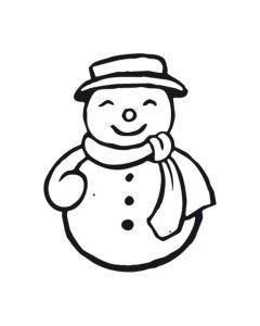 Stempel 4 x 4 cm sneeuwman