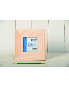 Houten kader vierkant 9 x 9 cm
