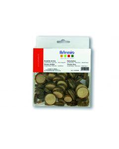 Houten boomschijfjes 180 g